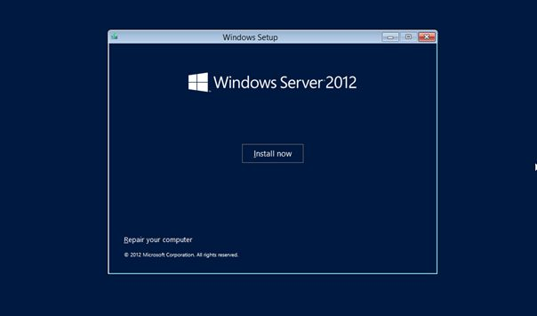 Windows Server 2012 Kurulum