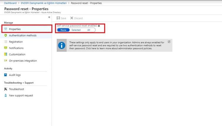 Azure Active Directory ile Self Service Password Reset Nasıl Yapılır